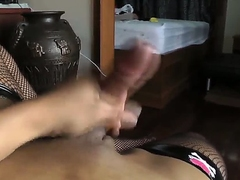 Hot shemale, whose name is Pang, decided to earn some money and made her own video, where she rubs her dick and teases boobies. Oh wow, now that is really awesome, you conscript to look at this.