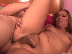 Handsome pal is having for detail banging less shemale chearleader Khloe Hart in this scene. The bitch less dick spreads hooves added to gets their way asshole drilled by guys cock.