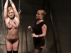 Blonde just about gigantic breasts with the addition of Katy Parker howl in lesbian ecstasy