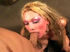 Hot fair-haired t-girl fucked hard