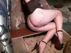 X-rated Legs Evy Shagging The brush Seductive Ass!