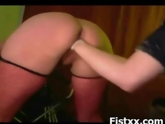 Fist Digging For Hottie Girl